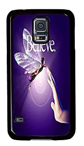 Plastic Case for Samsung Galaxy S5 Black Case Back PC Cover Shell for Samsung Galaxy S5 with Believe in the Power of Friendship