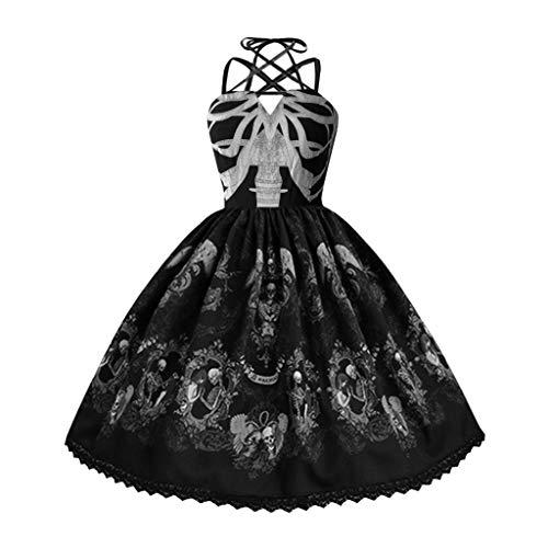 Hula Girl Costumes Plus Size - 1950S Punk Skull Dress for Women
