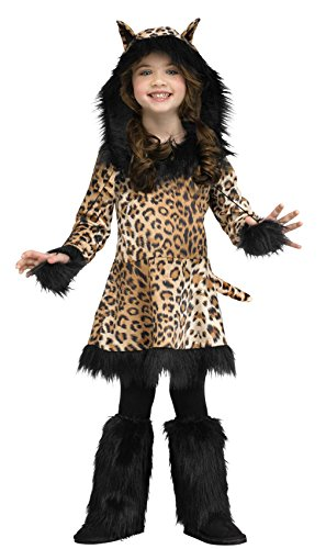 [Little Girls Natural Leopard Costume 8-10] (Toddler Natural Leopard Costumes)