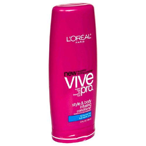 Body Infusing Conditioner - L'Oreal Vive Pro Conditioner, Style & Body Infusing, for Normal Hair that Needs Body, 13-Ounce Bottles (Pack of 6)