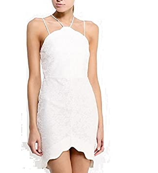 b24d6601d982 TOPSHOP Petite Scallop Lace Bodycon Dress White Cream Bridal Summer Party  UK 6: Amazon.co.uk: Sports & Outdoors