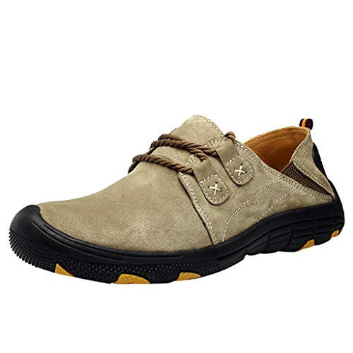 Price comparison product image Hiking Boots Climbing Shoes Sneakers for Men Large Size Casual Breathable Outdoor Training Loafers Shoes Miuye Khaki