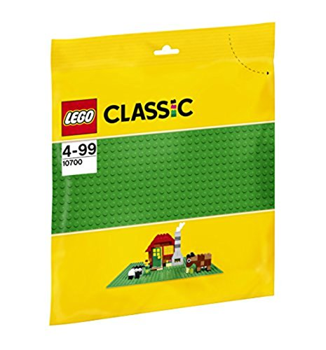 (European Version) LEGO Base 32 x 32 Stud Building Plate 10 x 10 Inch Platform, Green | 10700 (Lego City Baseplate)