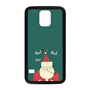 Fashionable Christmas Santa Claus Pattern Print Samsung Galaxy S5 Plastic And TPU (Laser Technology) Case Phone Cover