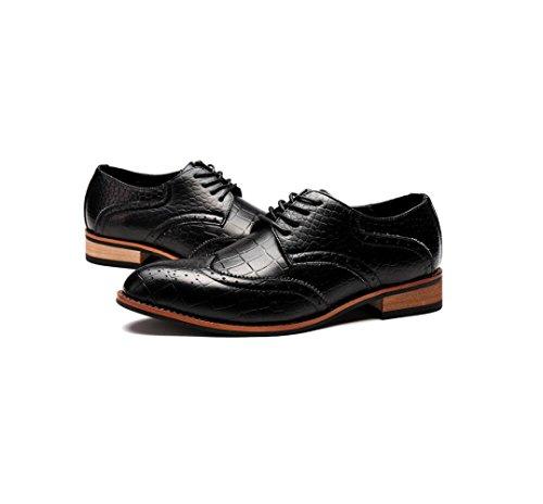 zmlsc Cuir Chaussures Hommes Casual Business Doux Arrondi Pointu Bande Printemps Été Automne Hiver Couleur Sports Black kTJjSurQF