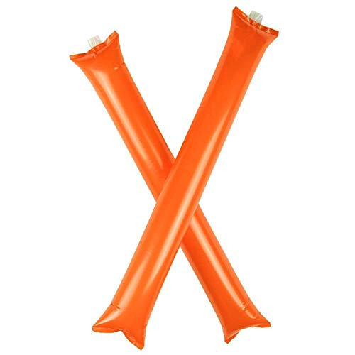 (Aglala Bam Bam Thunder Sticks Blow Bar Inflatable Stadium Noisemakers Cheerleading Clap Hands Outfit Basketball Football Long Balloon Cheering Stick Party Favors)