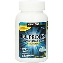 Ibuprofen Liquid Softgels 200mg, 180 Capsules, Kirkland Signature Brand