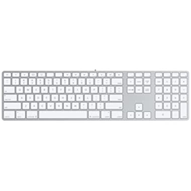 Apple Wired Keyboard with Numeric Keypad Compatible with Mac OS X v.10.6.8 & later Versions (MB110LL/B)