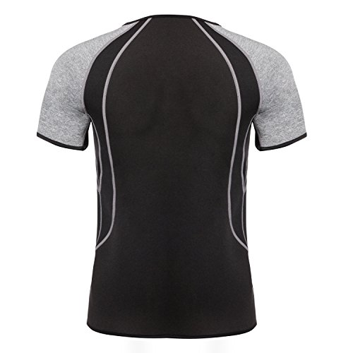 3a90fb13bb Junlan Men Weight Loss Shirt Workout Neoprene Top Training Body Shaper  Clothes Sweat Sauna Suit Exercise