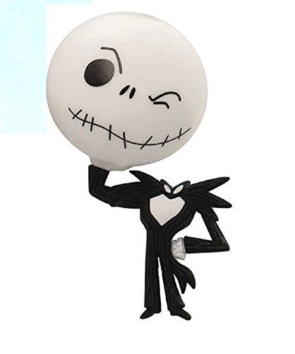 Nightmare Before Christmas Series 2 3-D Figural Key Chain ~ Jack Skellington with head Keyring (Opened to Identify)