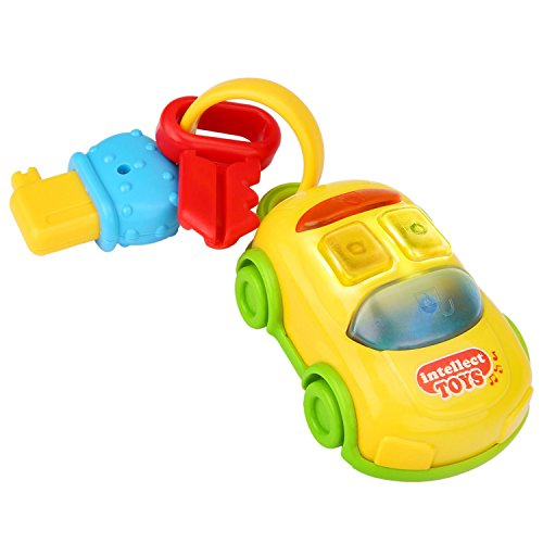Peradix Car Keys Baby Rattle Toys Set - Grab and Spin Rattle'n Rock Shaker Ring