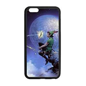 iPhone6 Plus Peter Pan Sitting On Hill Moon Case Cover for iPhone6 Plus 5.5 (Laser Technology)