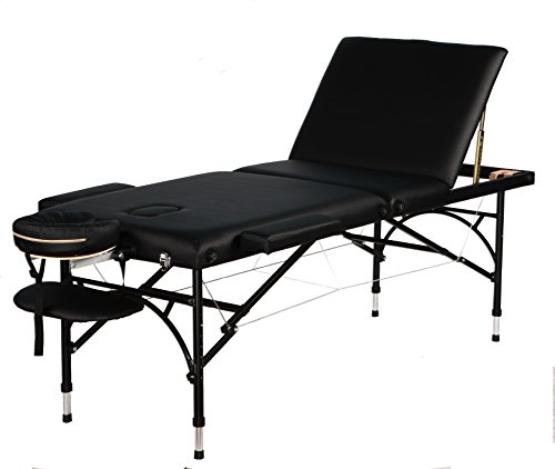 Super Stable portable Aluminum 3 sections Tattoo/Massage/Spa/Reiki Table/bed, Height Adjustable