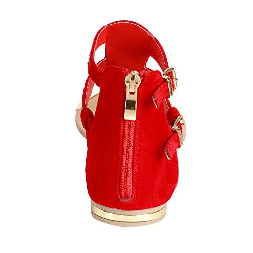 Sandali Gladiator Alti In Pelle Con Cinturino Alla Caviglia Per Donna