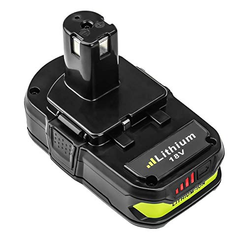 P108 2.5Ah Replacement for Ryobi 18V Battery Lithium Ion P107 P102 P103 P105 P107 P108 P109 P104 Ryobi ONE+ Plus Cordless Power Tool with LED Indicator