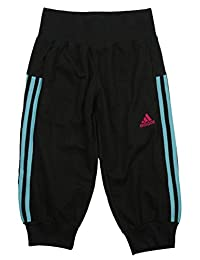 Adidas Big Girls Youth 3/4 Linear Cotton Pants