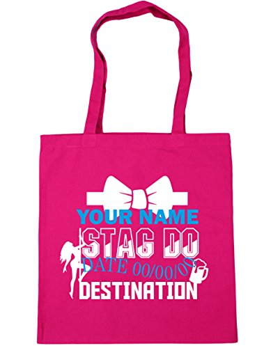 Bag Tote 42cm Beach x38cm Event litres Do Shopping Fuchsia Gym Personalised Stag HippoWarehouse 10 znR8T
