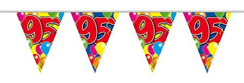 Bunting 95th Birthday Balloon Design Party Decoration Number Age Numeric
