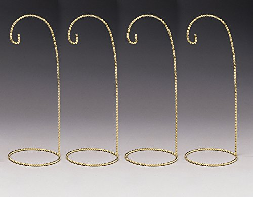 Christmas Ornament Display Stands Twisted Brass - 11 Inch - Pack of 4 Pieces -
