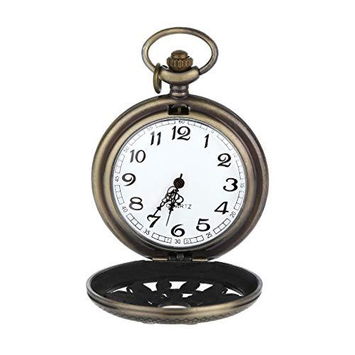(LUXISDE Personalized Pattern Steampunk Vintage Quartz Roman Numerals Pocket Watch Gold )