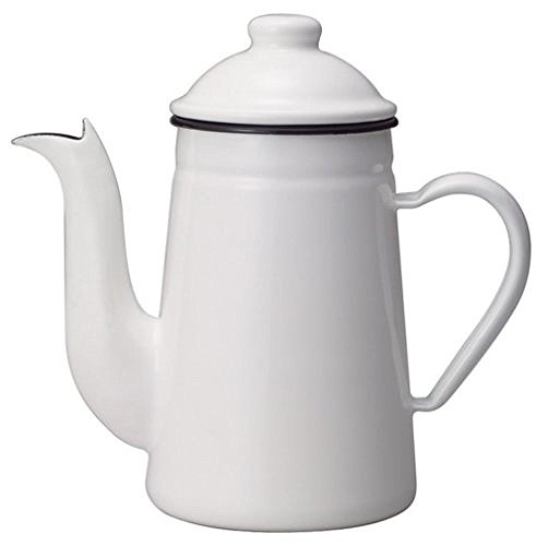 - Kalita Enamel Pot Kettle Coffee Tatsujin Pelican 1L White