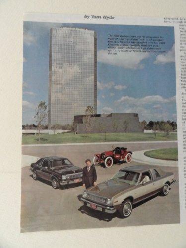 1909 Hudson ,1978 American Motors cars. full page print ad(cars.) original vintage 1977 magazine Print Art.