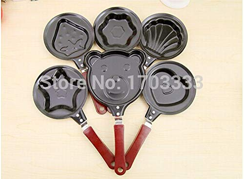 Egg Tools - Cooking Egg Gadgets Mini Cartoon Cake Pot Fried Pancake Love Heart Shape Non Stick Pan 200pcs - Set