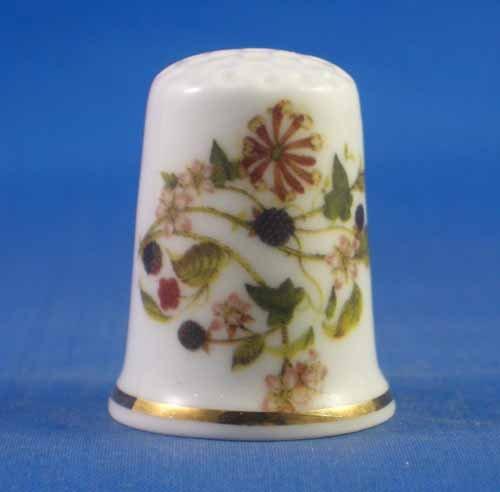 Porzellan Sammlerst/ück Birchcroft Fingerhut Kirschen und Beeren