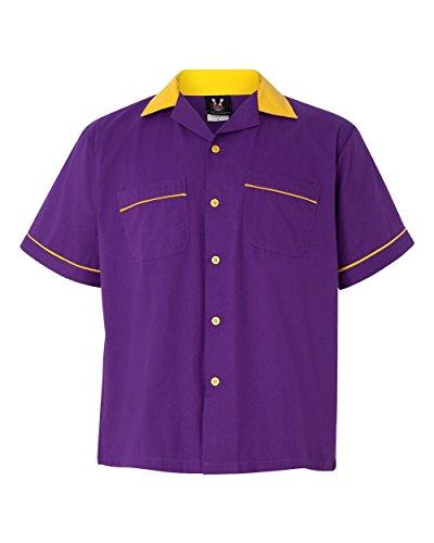 Hilton Hotels and Resorts GM Legend Bowling Shirt, Purple...
