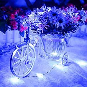 MIUI USB String Lights, 33ft 100 LED Waterproof Decorative Lights USB Fairy Lights for Indoor and Outdoor, Bedroom, Patio, Garden, Wedding, Parties(Blue)