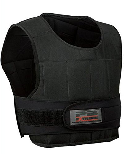 Perform Better Extreme Fitness Adjustable Weighted Weight Vest, 20 lb,