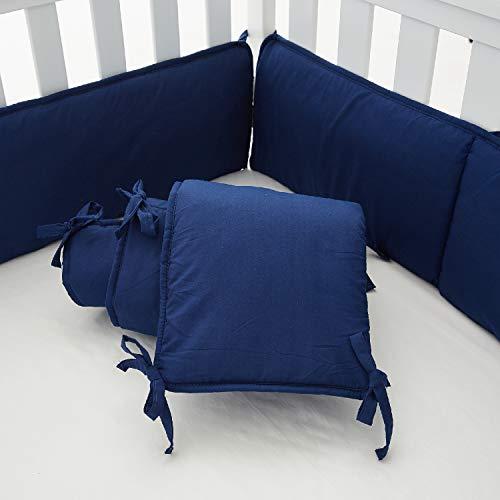 navy blue crib bumper - 7