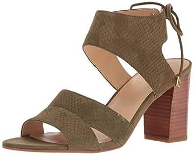 Franco Sarto Women's Gem Heeled Sandal, Vintage Sage, 5 Medium US