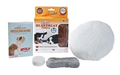 PetZu Mother's Comfort Heartbeat Pet Pillow, Chocolate/White from PetZu