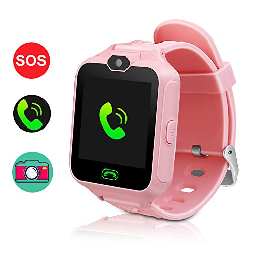 (Smart Watch for Kids,Smartwatches for Girls Boys Phone Watch Camera SOS Alarm Clock, Smart Watch for Kids Girls Boys Birthday Great Gifts(Pink))