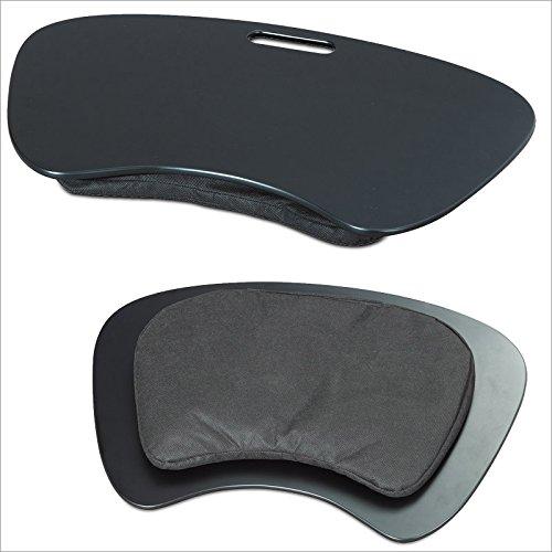 Relaxdays 10014660 Knietisch Laptoptablett mit Henkel, schwarz