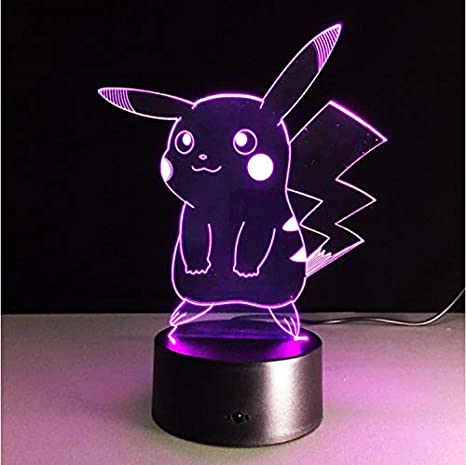Figura de acción de Pokémon Lámpara Led 3D Illusion Night ...