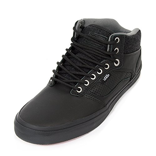 Furgonetas Bedford fieltro Paquete Negro En Negro Medio monopatín Zapatos Black