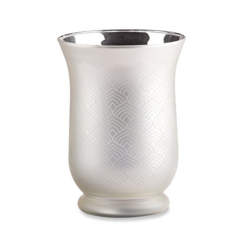 Kate Aspen 27130NA Champagne Frosted & Etched Glass Vase