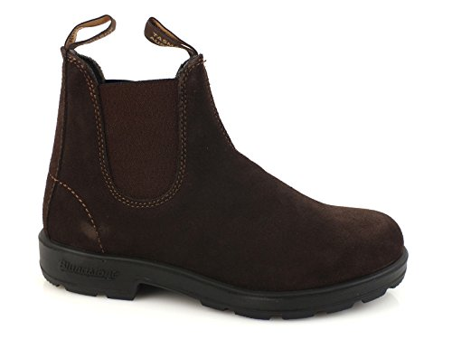 BLUNDSTONE 1458 stivaletto elastici boot PELLE BROWN MARRONE 1458 42