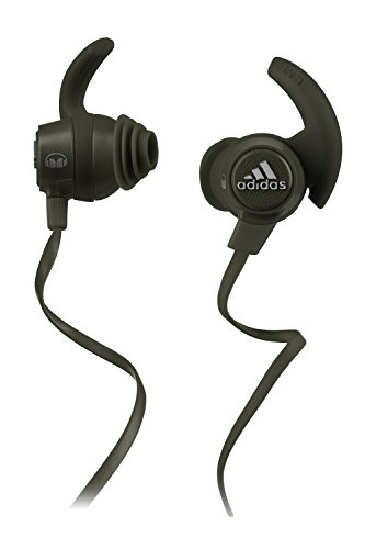 Monster 137020-00 Adidas Performance Response Earbud Headphones, Olive Green