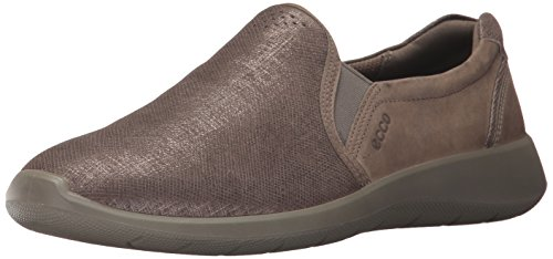 ECCO Women's Women's Soft 5 Slip On Fashion Sneaker, Warm Grey/Moon Rock, 36 EU / 5-5.5 US