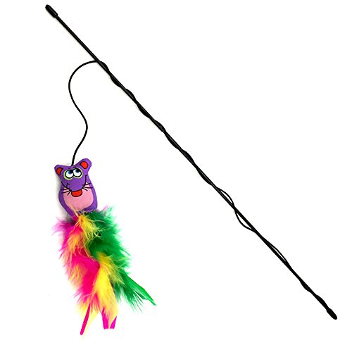 Blytieor 1pc active dangle feet teaser wand cat toy for Retractable cat toy