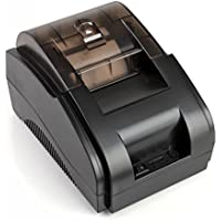 Flexzion USB POS Receipt Printer Digital 384 Line High Speed Dot Printing Set Compatible ESC Command Built in Data-Buffer with Power Adapter & 58mm Thermal Paper Roll