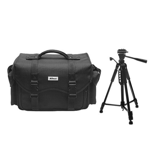 Nikon Digital & Film SLR System Case Gadget Bag + Deluxe Tripod for D40, D60, D3000, D3100, D5000, D5100, D7000, D300s, D3, D3s & D3x Cameras (Best Tripod For D7000)