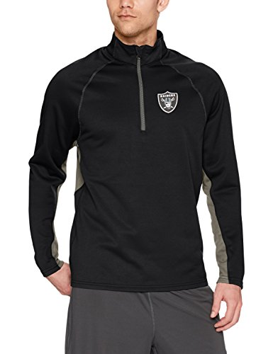 Pullover Oakland Raiders - NFL Oakland Raiders Men's OTS Poly Fleece 1/4-Zip Pullover, Jet Black, Large