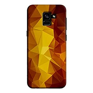 Cover It Up - Orange Pixel Yellow Triangles Samsung Galaxy A5 2018 Hard Case
