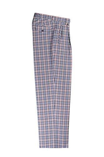 Tiglio Light Blue, Black, Navy Check Brown Windowpane Wide Leg, Pure Wool Dress Pants Luxe 55199/1