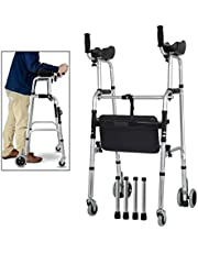 Rolling Walkers Walker Armrest Frame Four-Legged Can Upstream Mobility Walkers Walkers of The Elderly Upright Walker Walker with Seat and Wheels Walker with Seat Rolling Walker Rolling Walkers