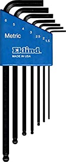 product image for EKLIND 13607 Ball-Hex-L Key allen wrench - 7pc set Metric MM sizes 1.5-6 Long series